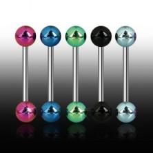 Shiny ball tongue ring
