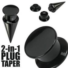 Taper and plug 2 in 1 black