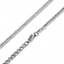 Steel chain, glossy surface - oblong rings twisted in spiral, 3,5 mm