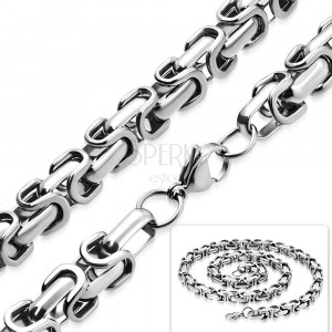 Stainless steel chain - byzant design, wider eye, 8 mm
