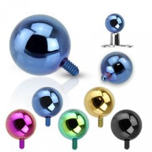 316L steel implant ball - anodic surface, various colours, 5 mm