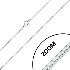 925 silver chain - glossy angular elements, square cross-section, 1,2 mm
