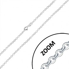 925 silver chain - perpendicularly joined round rings, 2,6 mm