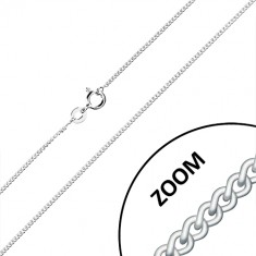 925 silver chain - twisted oval rings, connected into series, 1,3 mm