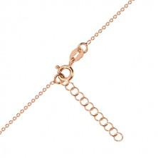 Three-set of pink-gold colour, 925 silver - glossy heart, north star, black diamond