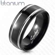 Titanium ring, two lines