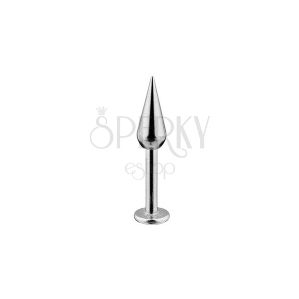 Rustles steel labret - simple smooth quadricone, width 1,6 mm