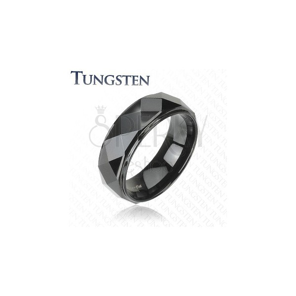 Tungsten ring with bevelled edges