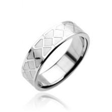 Stainless steel ring - mosaic pattern