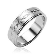 Matt surgical steel ring, stars