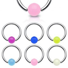 Body piercing - glowing ball bead