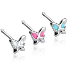 Nose flat stud butterfly