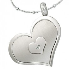 Triple heart pendant made of stainless steel