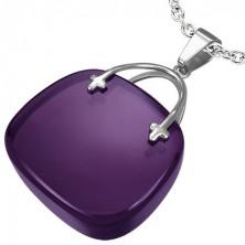 Pendant for women - purple handbag