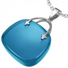 Women's purse pendant - blue colour