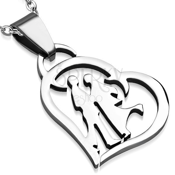 Stainless steel pendant - confession of love