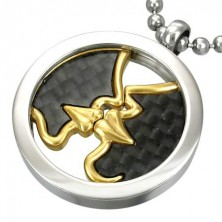 FIRST KISS pendant made of steel with spinning centre