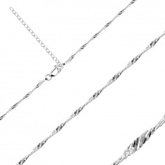 925 Silver chain – shiny oval links in a spiral, 1,7 mm