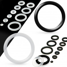 Spare silicone rings for tunnel or plug, clear color