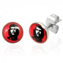 Stainless steel earrings - Che Guevara 7 mm