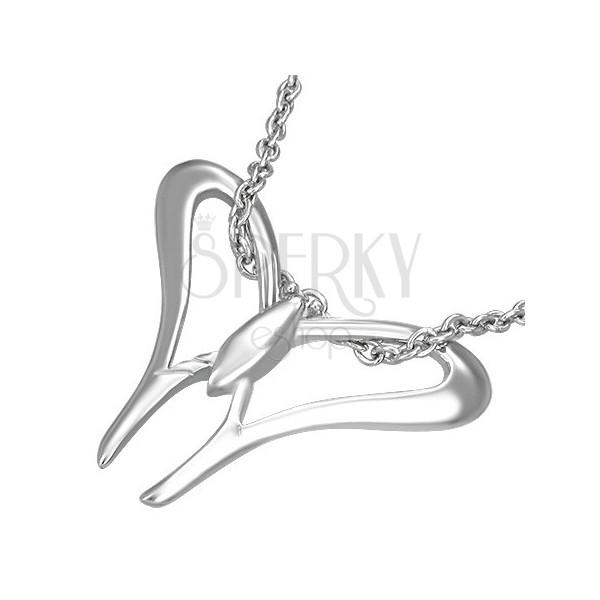 Stainless steel pendant - butterfly wings