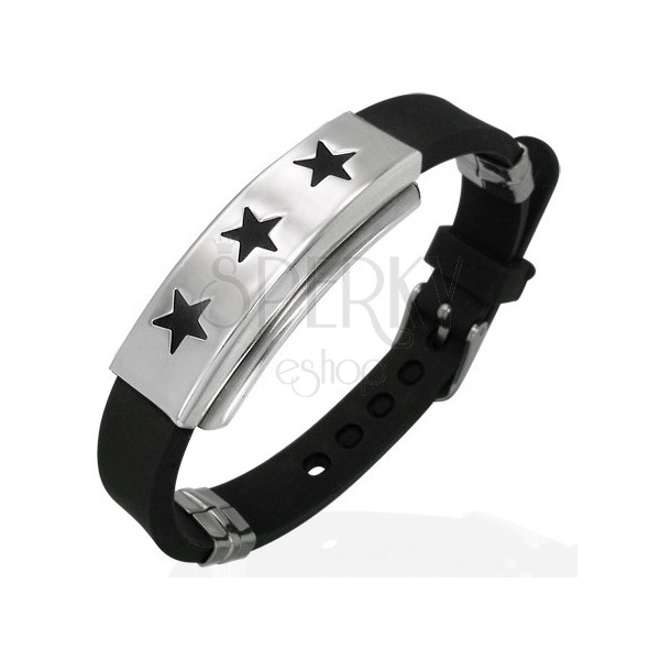 Rubber bracelet with tag - stars