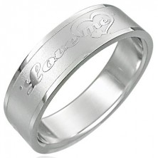 Stainless steel ring - LOVE ME