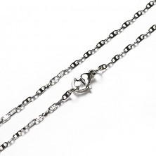 Chain made of steel - oval with two holes