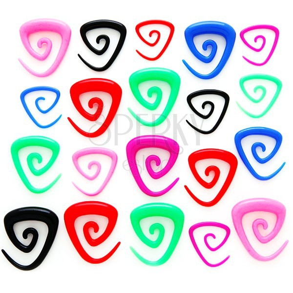 Triangle spiral ear expander