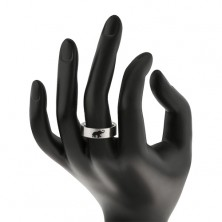 Dark elephant ring made of steel