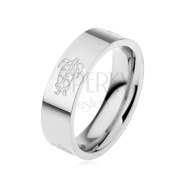 Stainless steel turtle ring