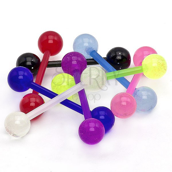 Tongue ring - neon coloured barbell