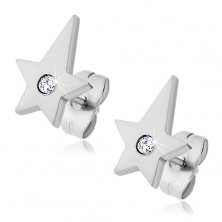 Surgical steel earrings - comet with zircon