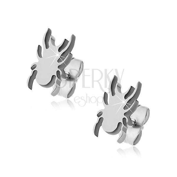 Stainless steel earrings - flat spider