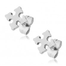 Surgical steel earrings - equilateral cross