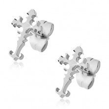 Surgical steel earrings - Latin cross