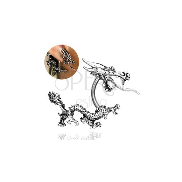 Ear piercing - Chinese fiery dragon