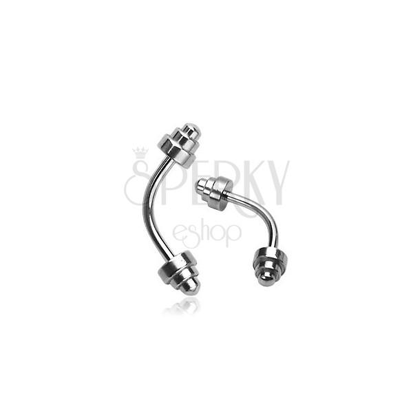 Eyebrow ring - jagged spiked bead