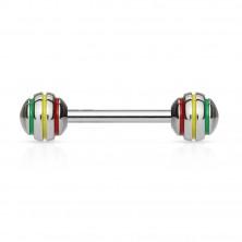 Tongue bar with bigger balls