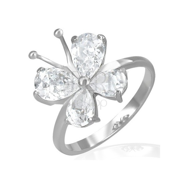 Butterfly Engagement Rings on Steel Engagement Ring   Zirconic Butterfly With Antennae   Jewelry
