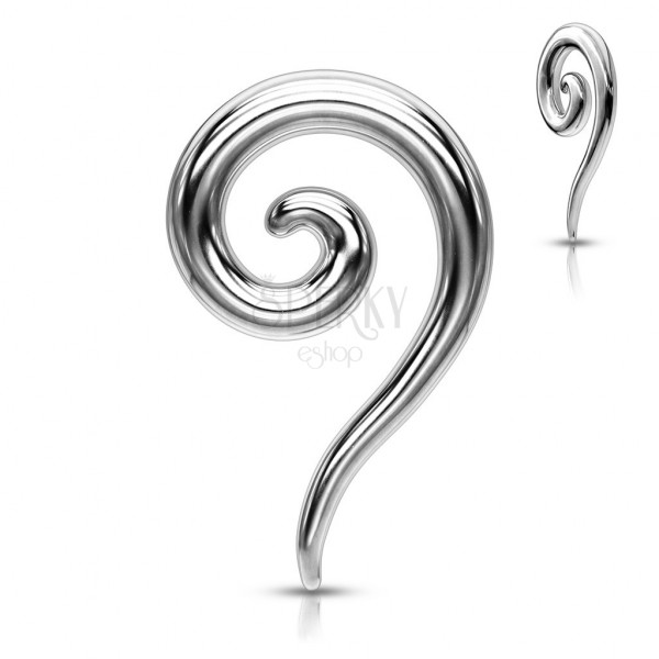 Ear piercing made of steel - glossy spiral expander