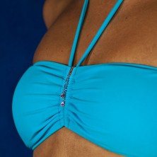Swimsuit jewelry - dangle tear drops on chains