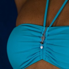 Swimsuit jewelry - dangle circles on chainlets