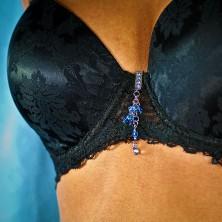 Swimsuit jewelry - dangle zircons
