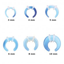 Ear expander, blue synthetic opal, pair