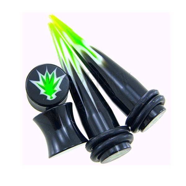Marijuana taper and plug - set of 2 plugs + 2 tapers