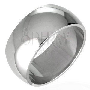Stainless steel wedding ring - shiny and rounded, 8 mm