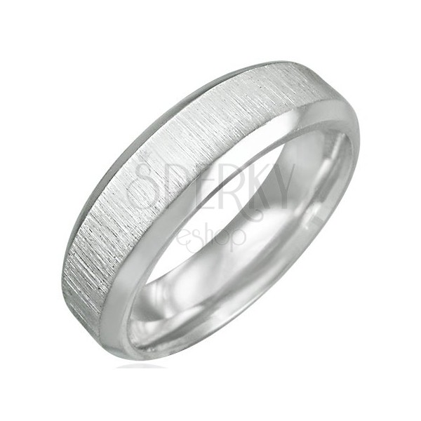 Stainless steel ring - matt polished central part