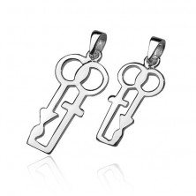 Sterling silver 925 couple pendants - gender symbols