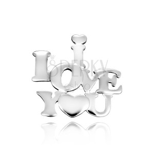 Sterling silver pendant 925 - love inscription with heart